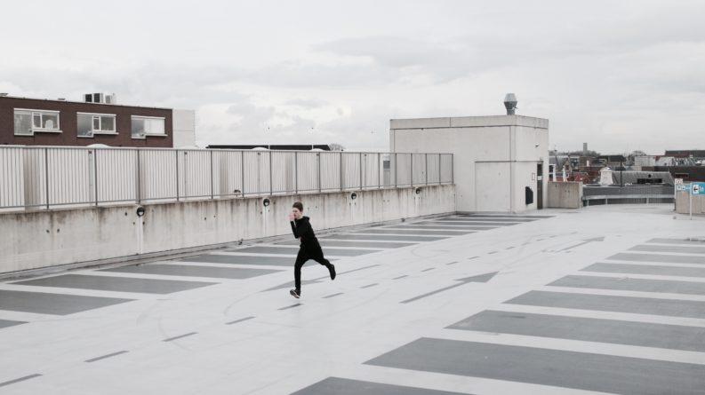 man running urgently